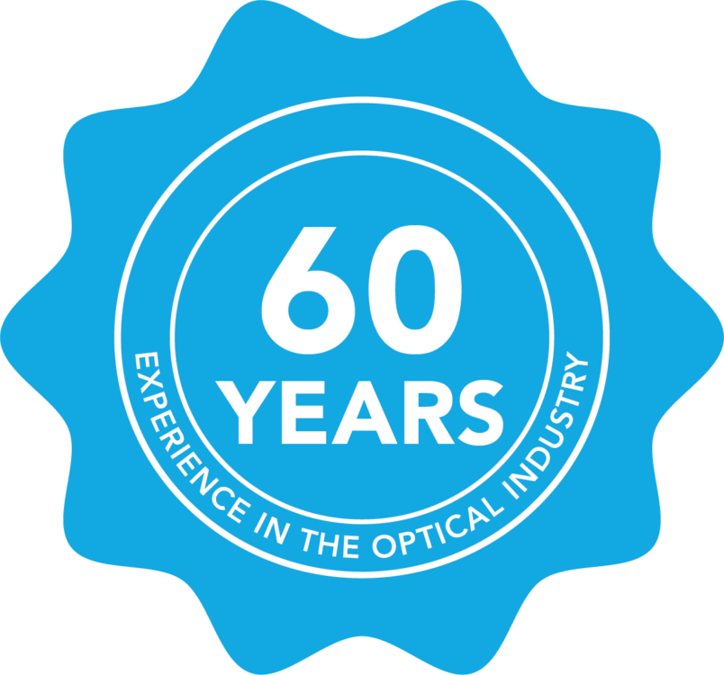 Icon boasting the 60 years of experience that Avatude's parent company Optica has in the optical industry